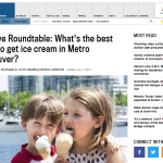 Vancouver Sun – Live Roundtable: What's the best place to get ice cream in Metro Vancouver?